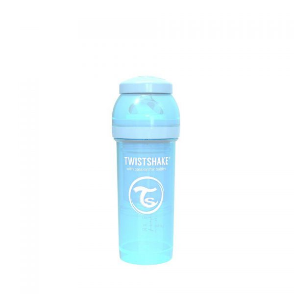 Антиколиковая бутылочка Twistshake для кормления 260 мл. Пастельный синий