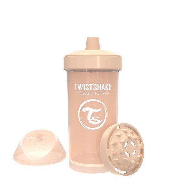 Поильник Twistshake 360 мл. Пастельный бежевый Возраст 12+m