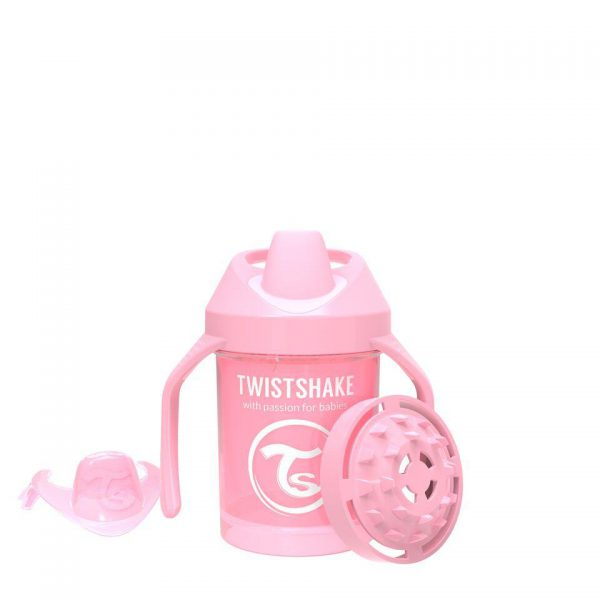 Поильник Twistshake Mini Cup. 230 мл. Пастельный розовый Возраст 4+m.