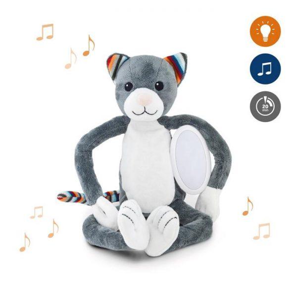 ZAZU Ночник с успокаивающими мелодиями Котёнок Кэти