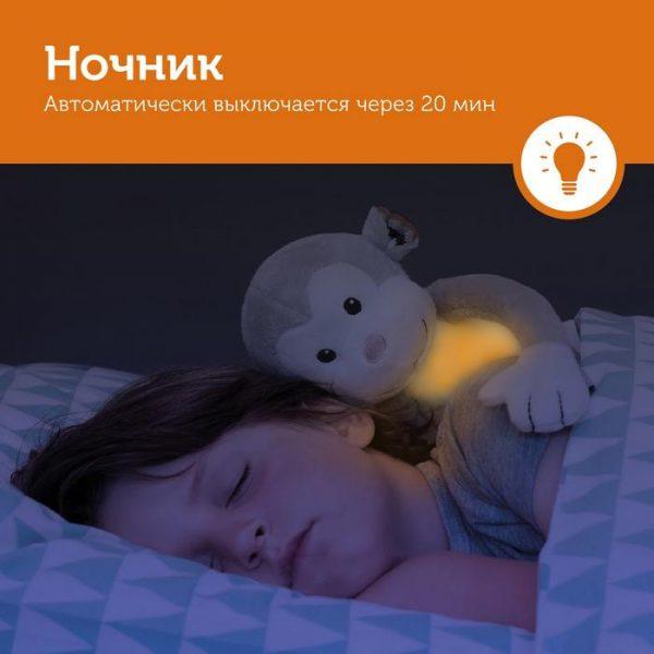 ZAZU Ночник с успокаивающими мелодиями Обезьянка Макс