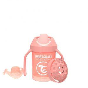 Поильник Twistshake Mini Cup. 230 мл. Пастельный персиковый Возраст 4+m.