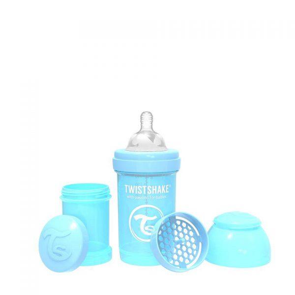 Антиколиковая бутылочка Twistshake для кормления 180 мл. Пастельный синий