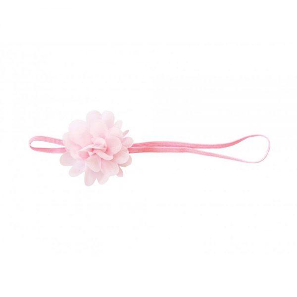 Повязка с розовым цветком The hip