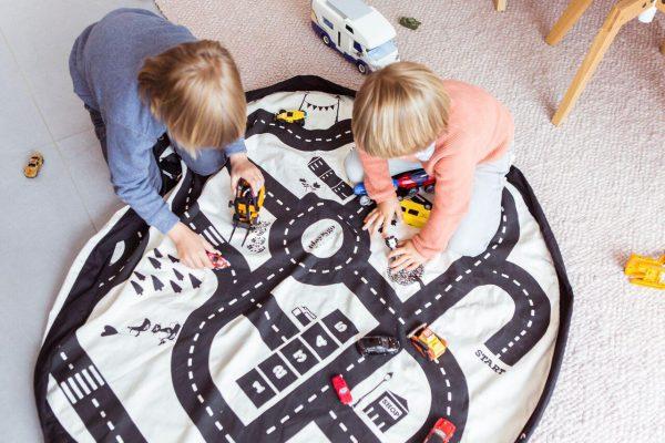 2 в 1: мешок для хранения игрушек и игровой коврик Play & Go. Коллекция Print Дорожная карта