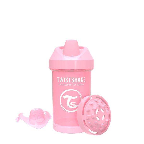 Поильник Twistshake 300 мл. Пастельный розовый Возраст 8+m