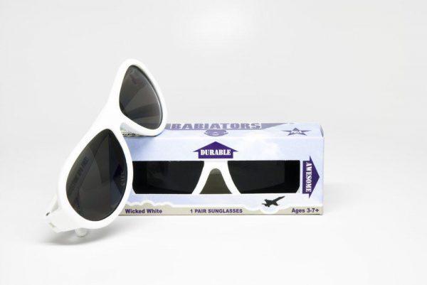 Сз очки Babiators Original Aviator. Шаловливый белый Junior (0-2)