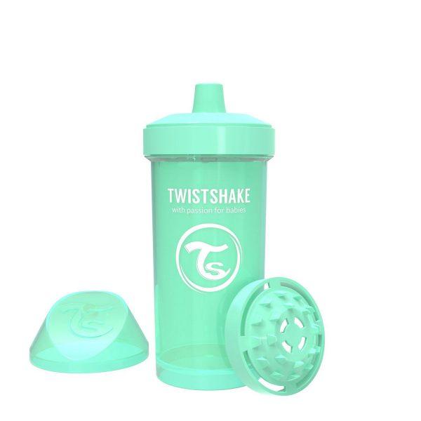 Поильник Twistshake 360 мл. Пастельный зелёный Возраст 12+m