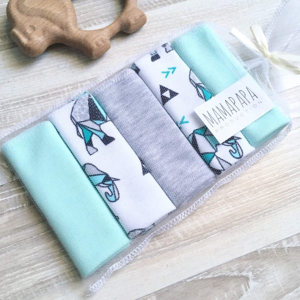 Набор платочков-слюнявчиков MamaPapa Слоники Оригами