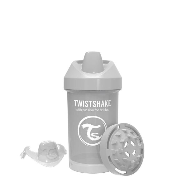 Поильник Twistshake 300 мл. Пастельный серый Возраст 8+m