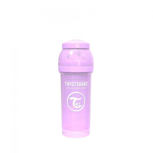 Антиколиковая бутылочка Twistshake для кормления 260 мл. Пастельный фиолетовый
