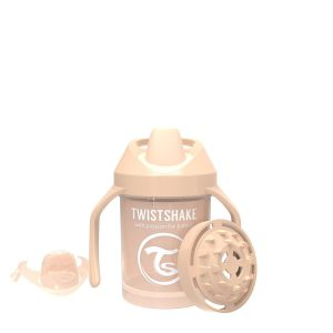 Поильник Twistshake Mini Cup. 230 мл. Пастельный бежевый Возраст 4+m.