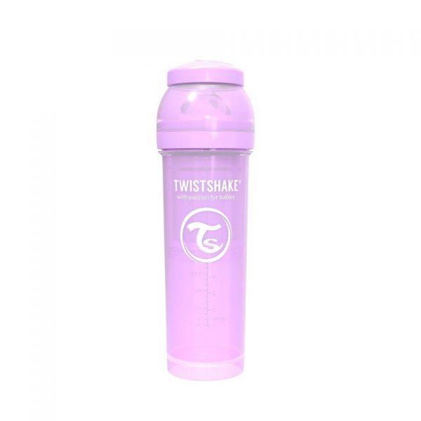 Антиколиковая бутылочка Twistshake для кормления 330 мл. Пастельный фиолетовый
