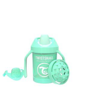 Поильник Twistshake Mini Cup. 230 мл. Пастельный зелёный Возраст 4+m.