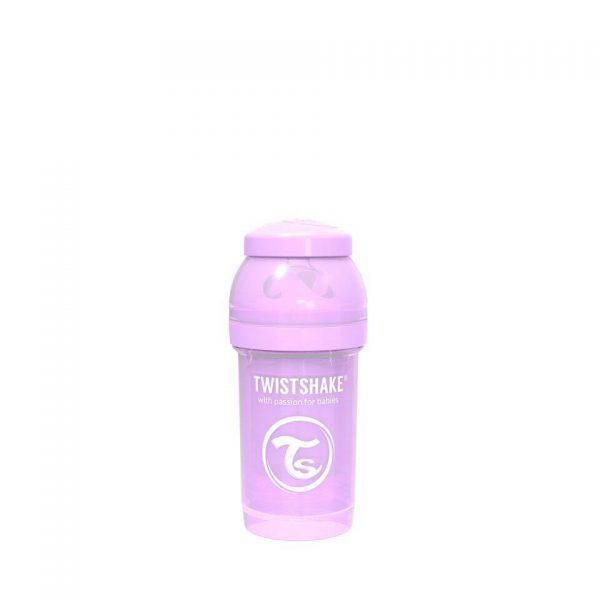 Антиколиковая бутылочка Twistshake для кормления 180 мл. Пастельный фиолетовый