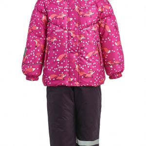 Зимний комплект для девочки KISU 80-98 фуксия