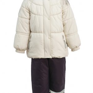 Зимний комплект для девочки KISU 80-98 молочный