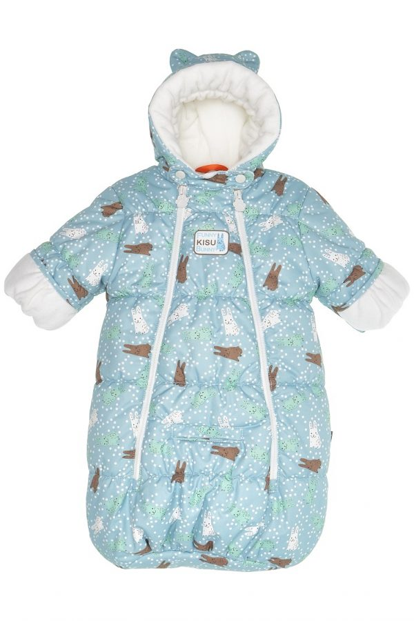 Конверт для новорожденных Kisu зайчики голубой