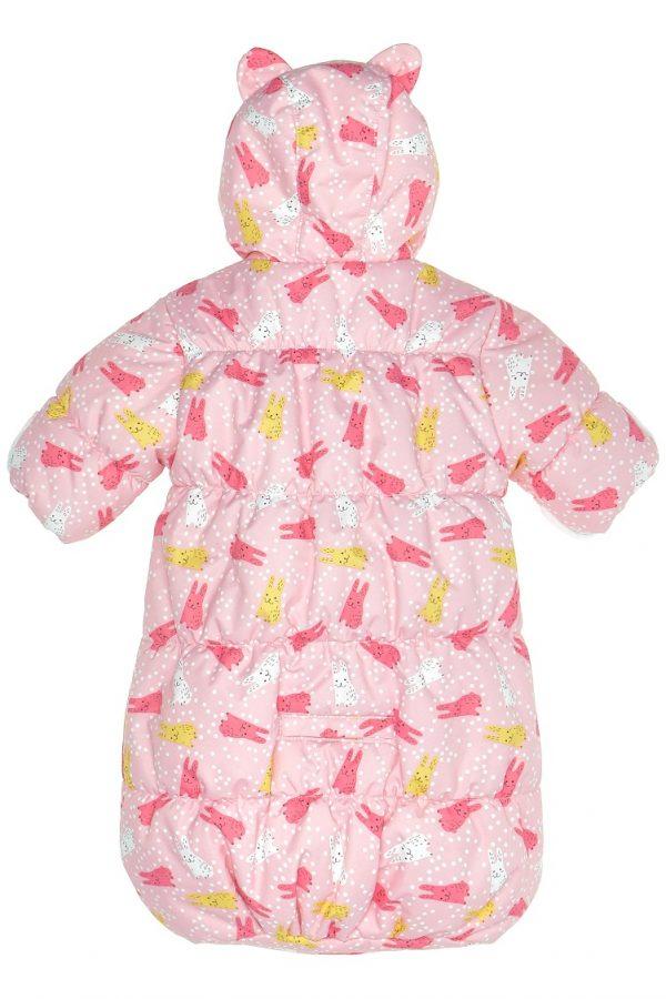 Конверт для новорожденных Kisu зайчики розовый