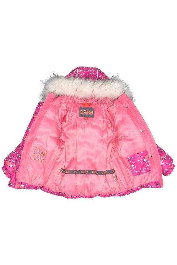 Зимний костюм для девочки KISU 86,92 фуксия