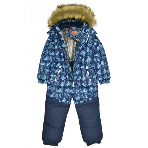 Комбинезон для мальчиков KISU 104-116 синий
