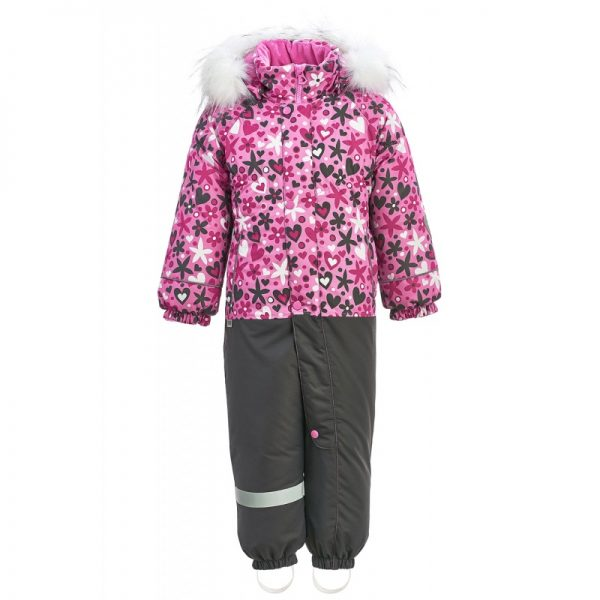 Комбинезон для девочки KISU 80-92 розовый
