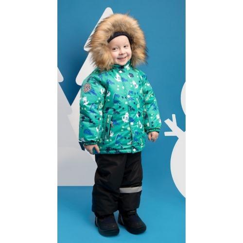 Зимний костюм для мальчика KISU 92 зеленый