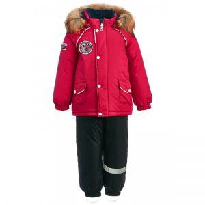 Зимний костюм для мальчика KISU 80-98 красный