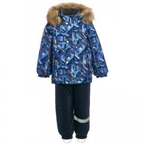 Зимний комплект для мальчика KISU 80-98 синий