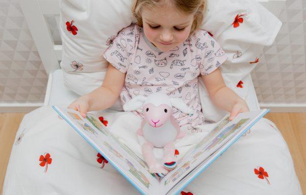 Детский ночник ZAZU барашек Фин розовый