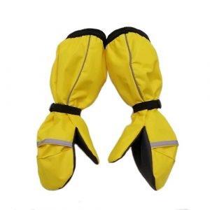 Непромокаемые рукавицы хлопок желтые