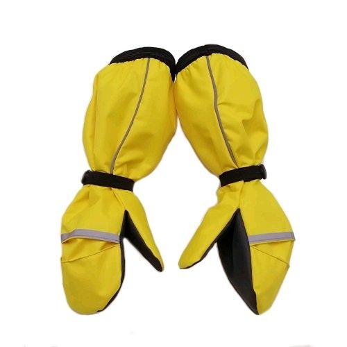 Непромокаемые рукавицы флис желтые