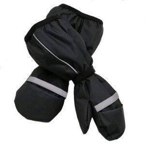 Непромокаемые рукавицы хлопок серые