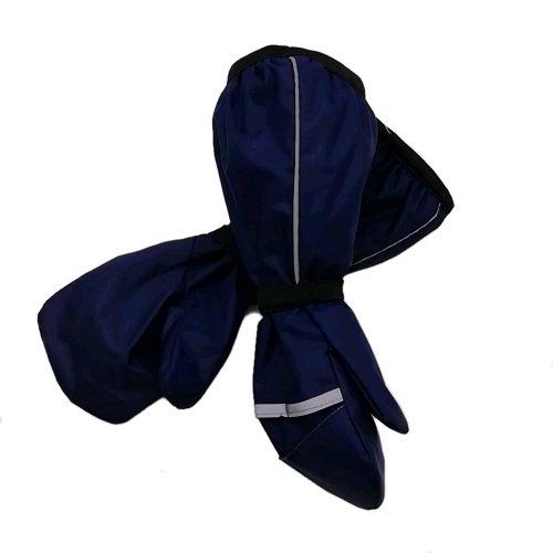 Непромокаемые рукавицы хлопок т/синие