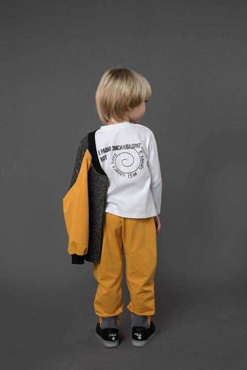 Толстовка для мальчика CANDYS серый/охра