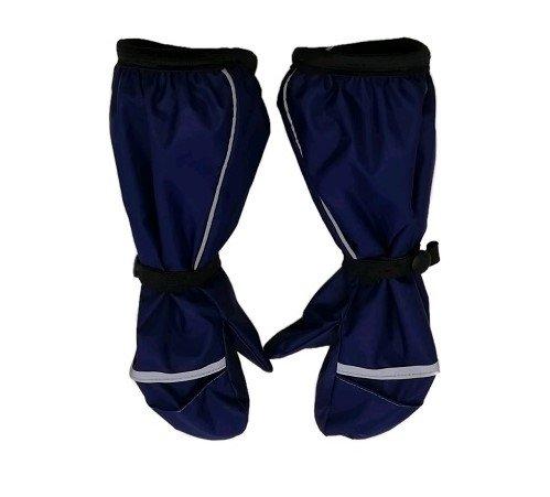 Непромокаемые рукавицы флис т/синие