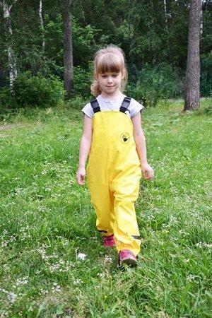 Непромокаемый полукомбинезон Спец-детка жёлтый