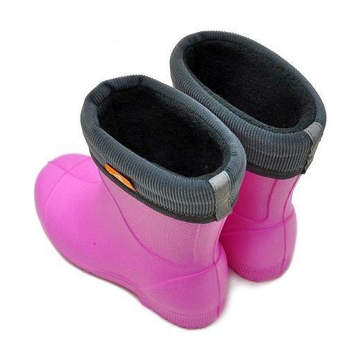 Детские сапоги ЭВА Nordman Jet розовые с флисовым вкладышем