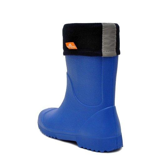 Детские сапоги ЭВА Nordman Jet синие с флисовым вкладышем