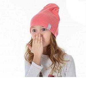 Шапка детская трикотажная HOHLOON коралл