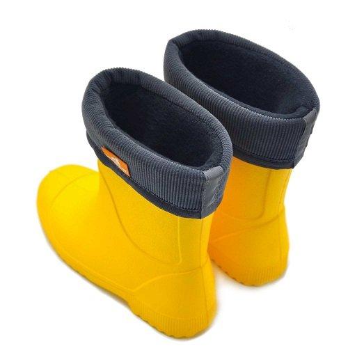 Детские сапоги ЭВА Nordman Jet жёлтые с флисовым вкладышем