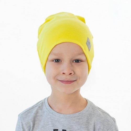 Шапка детская трикотажная HOHLOON желтая