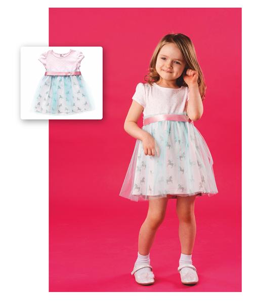 Платье для девочки CANDYS ментол