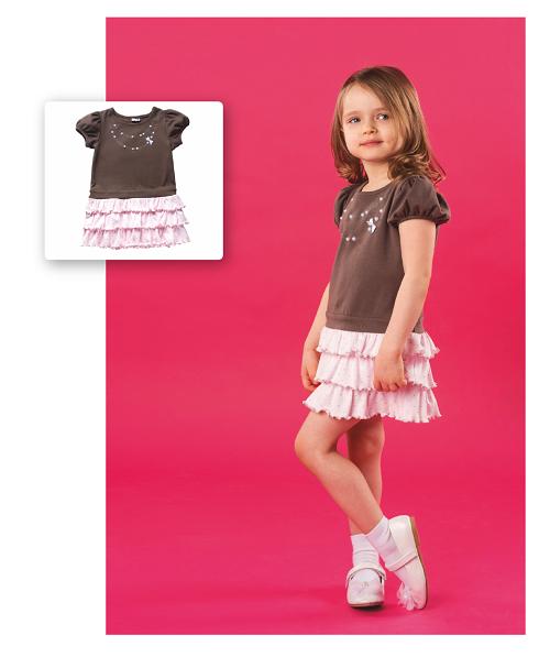 Платье для девочки CANDYS шоколад