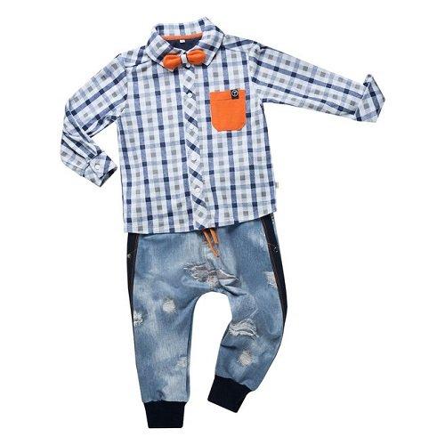 Рубашка для мальчика CANDYS синяя