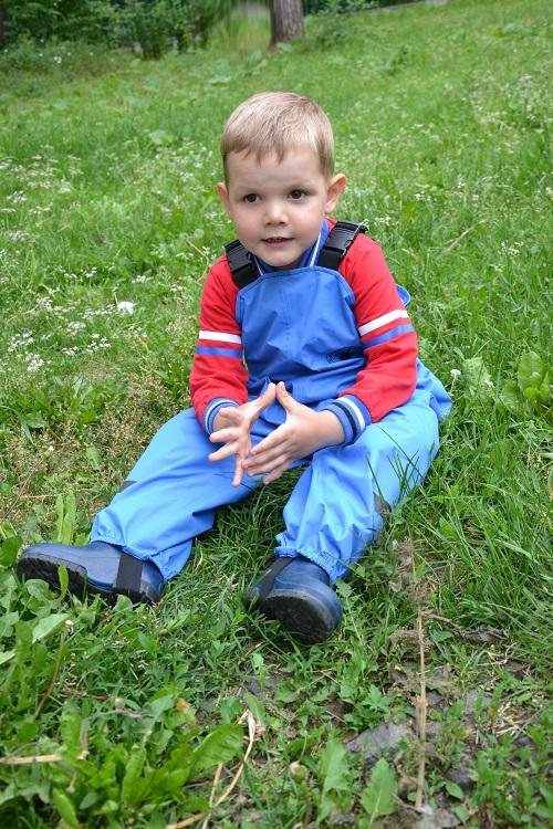 Непромокаемый полукомбинезон Спец-детка голубой