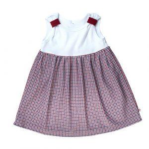 Платье для девочки CANDYS в красную клетку
