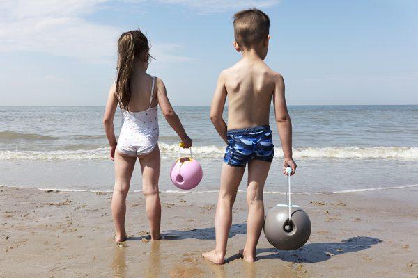 Игрушка для песка ведёрко Quut Ballo 0,5 л. синий
