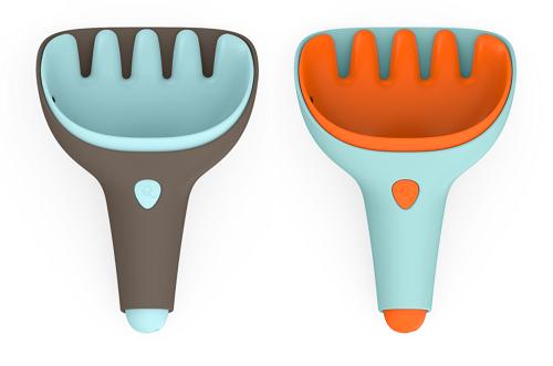 Лопатка и грабельки Quut Raki синий, оранжевый
