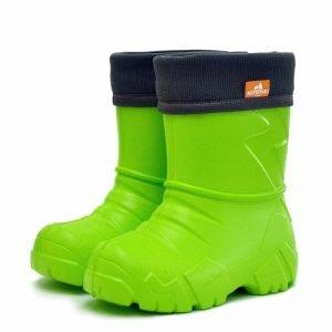 Детские сапоги ЭВА Nordman Kids с флисовым утеплителем лайм